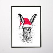 LE print christmas sassy white