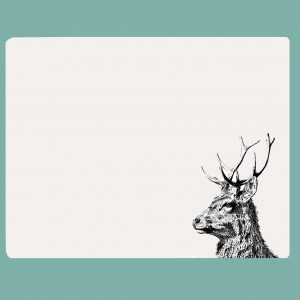 Table mat imperial stag