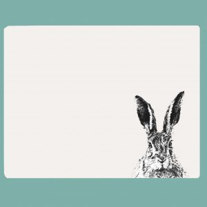 Table mat solemn hare