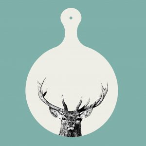 chopping board majestic stag