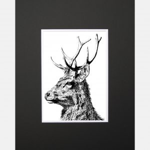 LE print imperial stag black copy
