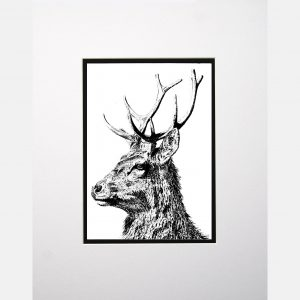 LE print imperial stag white