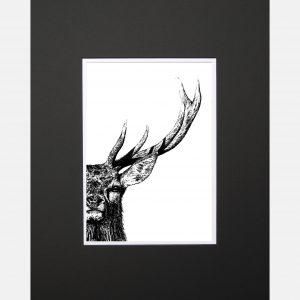 LE print majestic stag black copy