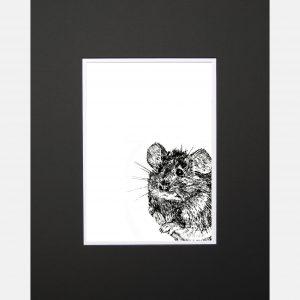 LE print mouse black