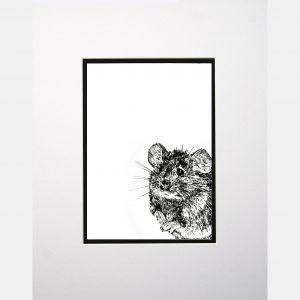 LE print mouse white
