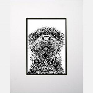 LE print otter white