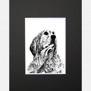 LE print retriever black