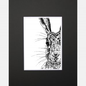 LE print sassy hare black