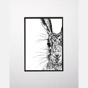 LE print sassy hare white
