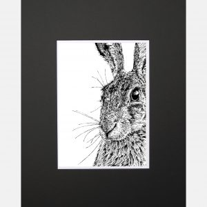 LE print shy hare black - Copy