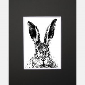 LE print solemn hare black copy