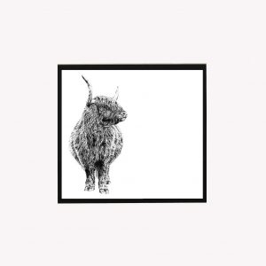 Couthy Coo 10 x 10 print white