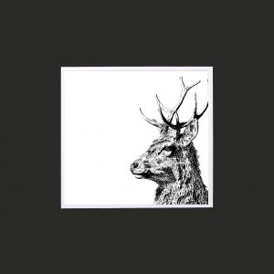 Imperial Stag 10 x 10 print black - Copy