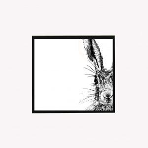 Sassy 10 x 10 print white