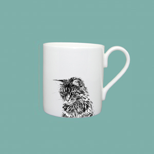Espresso cup cat