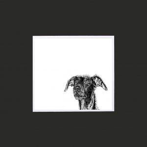 Lurcher 10 x 10 print black