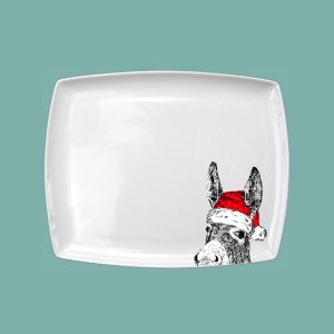 Small Breakfast Platter Christmas Donkey