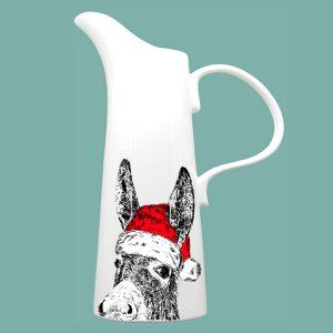 X Large Jug Christmas Donkey