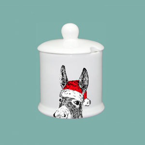 Condiment Pot Christmas Donkey