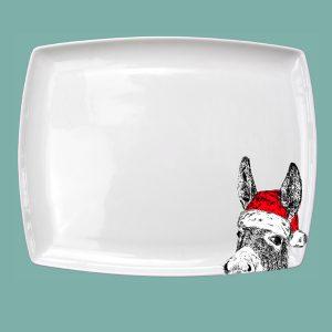 Large Breakfast Platter Christmas Donkey