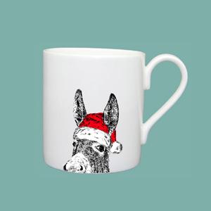 Large Mug Christmas Donkey