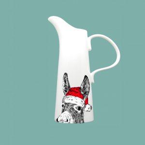 Medium Jug Christmas Donkey