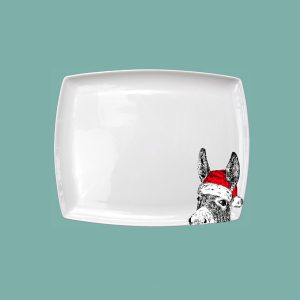 Small Breakfast Platter Christmas Donkey