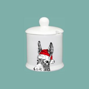 Christmas Donkey Condiment Jar