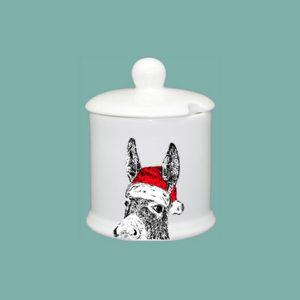 Christmas Donkey Condiment Jar