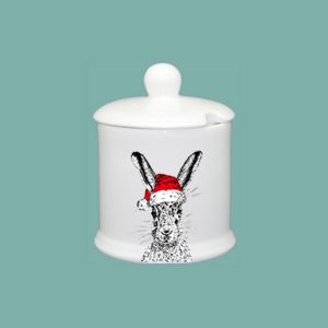 Christmas Sassy Hare Condiment Jar