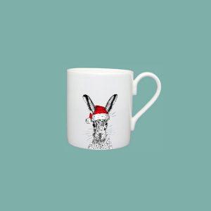 Christmas Sassy Hare Espresso Cup