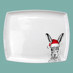 Christmas Sassy Hare Large Breakfast Platter