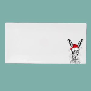 Christmas Sassy Hare Large Breakfast Tray