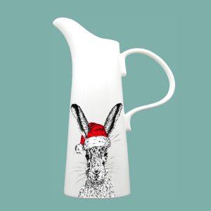 Christmas Sassy Hare Large Jug
