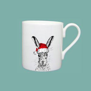 Christmas Sassy Hare Large Mug