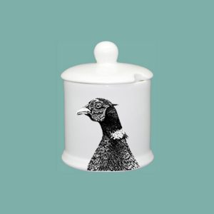 Pheasant Condiment Jar