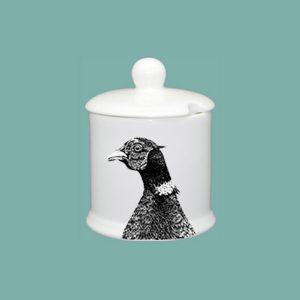 Pheasant Condiment Jar