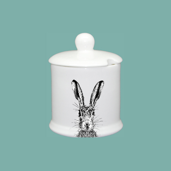 Sassy Hare Condiment Jar With Lid Little Weaver Arts