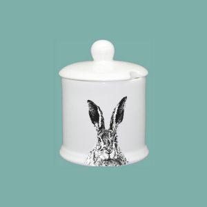 Solemn Hare Condiment Jar