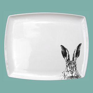 Solemn Hare Large Breakfast Platter
