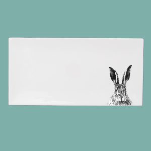 Solemn Hare Large Breakfast Tray