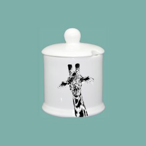 new giraffe condiment jar