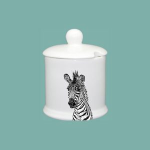 new zebra condiment jar