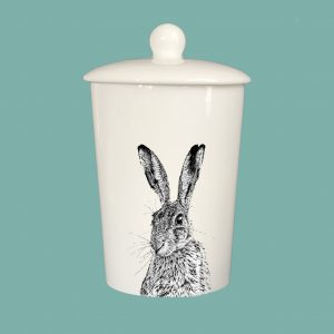 Storage Jar Shy Hare