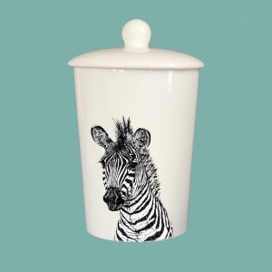 Storage Jar Zebra