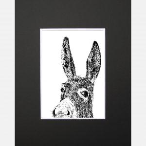 donkey black print