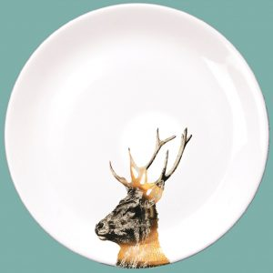 Gold Imperial Stag Dinner Plate