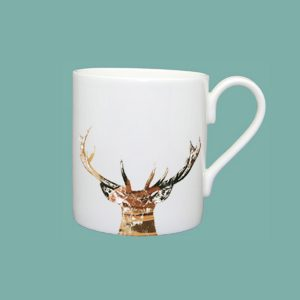 Gold Majestic Stag Large Mug