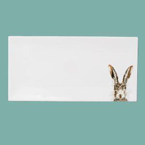 Gold large breakfast tray sassy hare