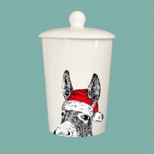 Storage Jar Christmas Donkey